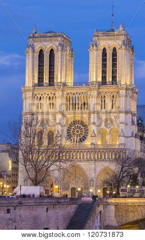 The Notre Dame Cathedral, Paris, France.