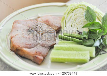 Pork Steak Dish