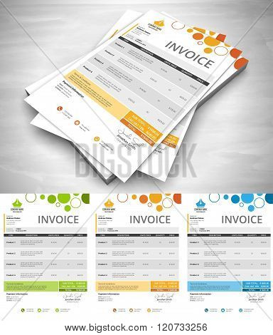 Creative Colorful Invoice