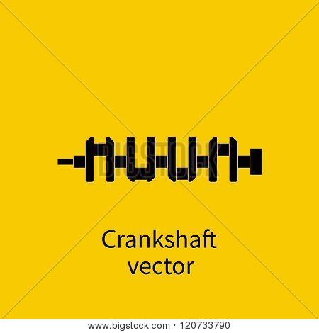 Spare Engine, Crankshaft, Vector. Crankshaft Icon. Spare Cars.
