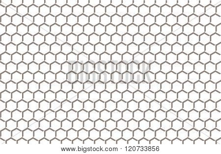 Ornament Honey Vector Grid Pattern Decorative
