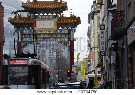 A cold winter day in Chinatown, Antwerpen.
