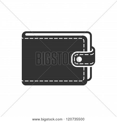 Wallet Icon Vector, Isolated. Black Icon On White Background. Purse Icon Vector.