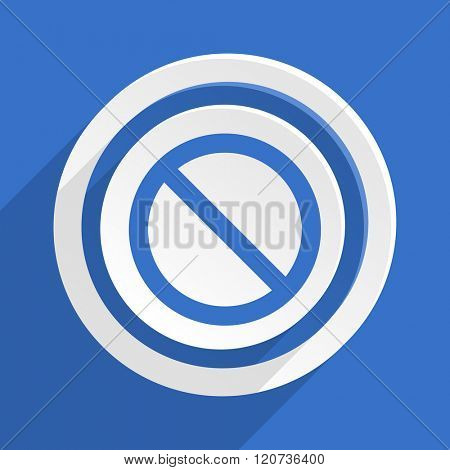 access denied blue flat design modern icon