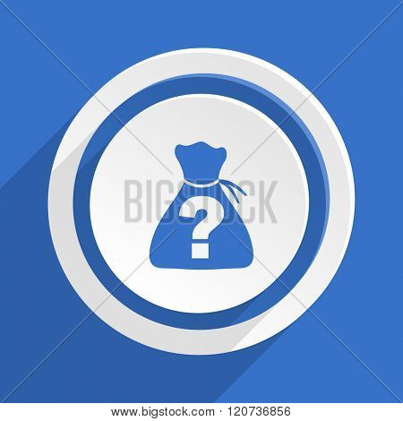 riddle blue flat design modern icon