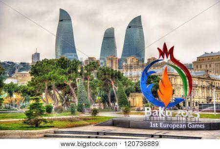 Emblem of 'Baku 2015' European Games in Baku