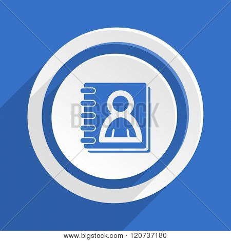 address book blue flat design modern icon