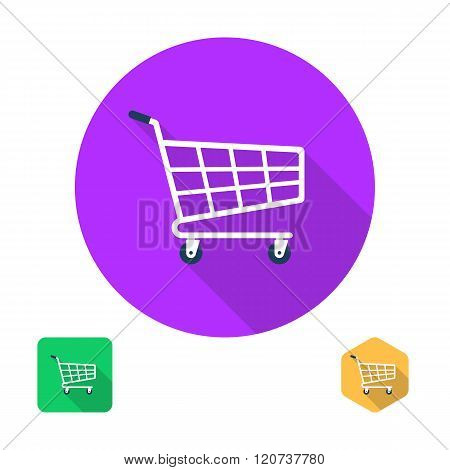 Shopping Cart Icon. Trolley Icon. Supermarket Trolley.