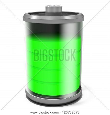 3D Discharging  Battery Symbol