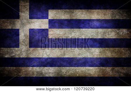 Grunge Greece Flag