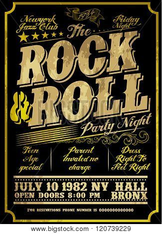 Rock Poster Design Style