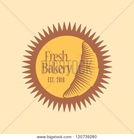 Vector logo, design element for bakery, French cuisine café