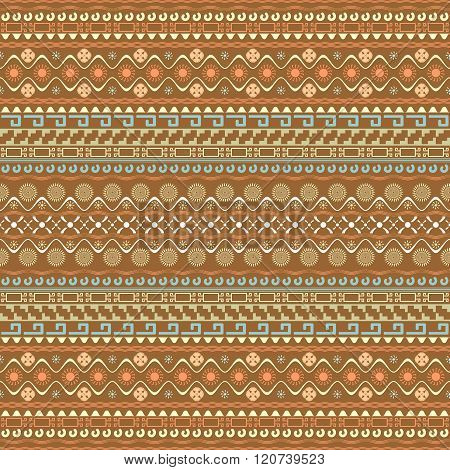 Seamless Pattern With Maya Style Elements