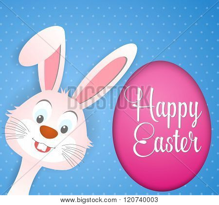 Happy Easter card with rabbit ears