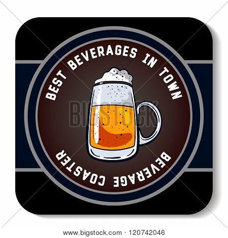 Square Beverage Coaster Color