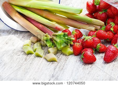 Strawberries And Rhubarb