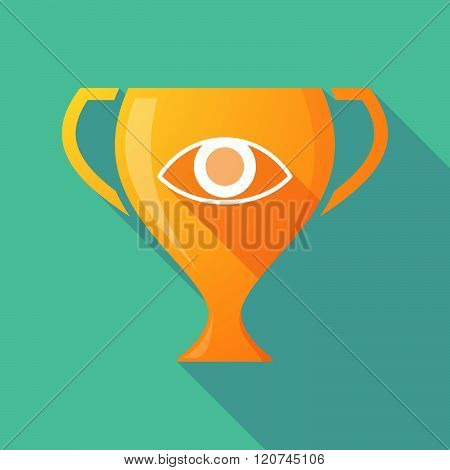 Long Shadow Trophy Icon With An Eye