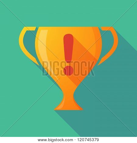 Long Shadow Trophy Icon With An Admiration Sign