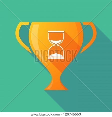 Long Shadow Trophy Icon With A Sand Clock