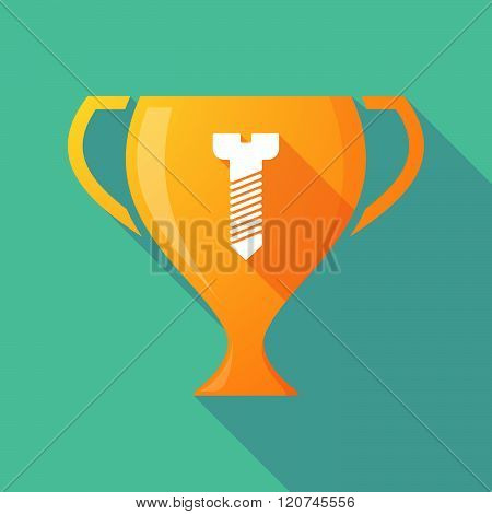 Long Shadow Trophy Icon With A Screw