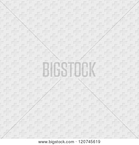 Vector Cross Pattern - Geometric Seamless Simple Light Black And White Modern Monochrome Texture