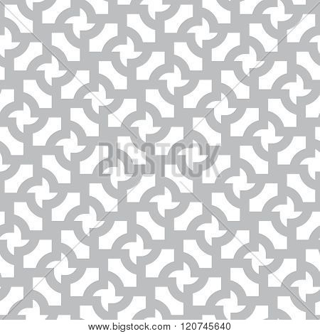 Simple Gray And White Vector Geometric Abstract Seamless Pattern