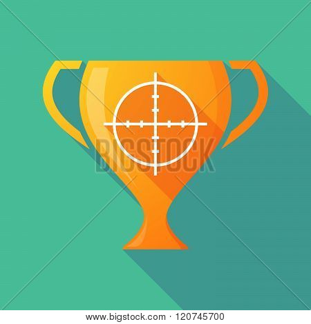 Long Shadow Trophy Icon With A Crosshair