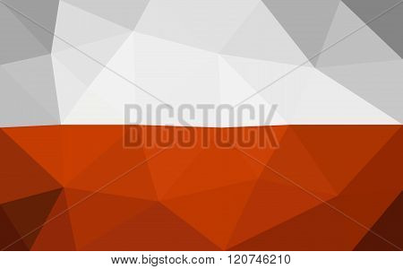 Poland low poly triangulate flag