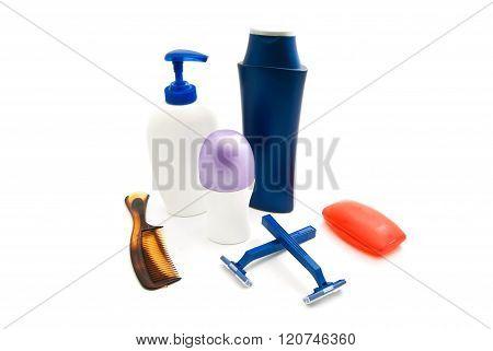 Shower Gel, Shampoo, Comb And Deodorant