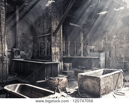 Old Textile Dyeing Plant