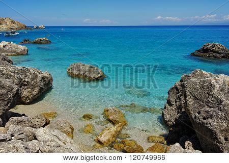 Clean water of Agios Nikitas Beach, Lefkada, Greece