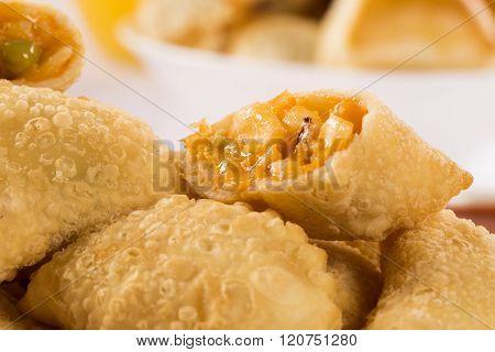 Brazilian Snack. Palmetto Pastry. Pastel De Palmito.