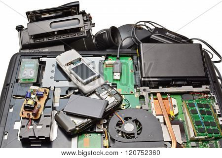 Disassembled For Repair Of Electronics