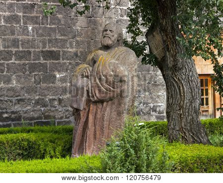Sculpture Mesrop Mashtots In Oshakan.