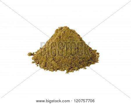 Henna Powder Isolated On White