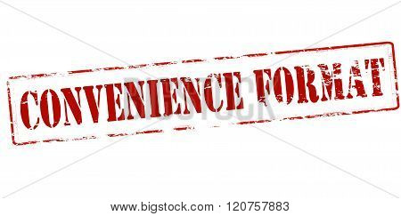 Rubber stamp with text convenience format inside vector illustration