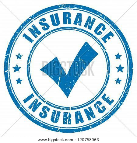 Insurance vector ink rubber stamp