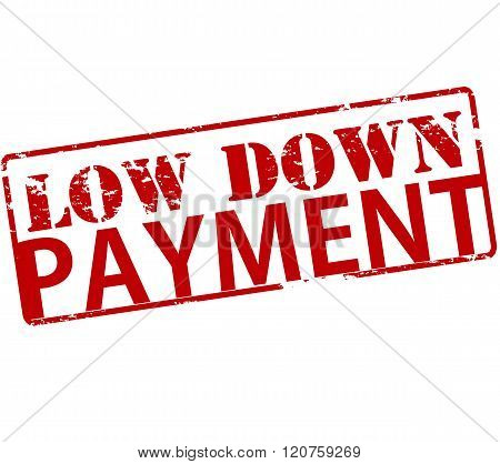 Rubber stamp with text low down payment inside vector illustration