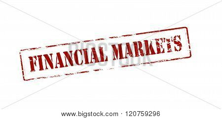 Rubber stamp with text financial markets inside vector illustration
