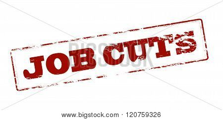 Rubber stamp with text job cuts inside vector illustration