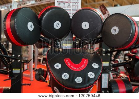 Modern Punching Machine For Boxing Practice And Fitness Exercise