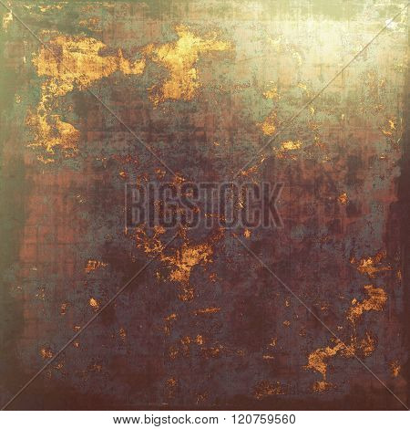 Grunge background with vintage and retro design elements. With different color patterns: yellow (beige); brown; green; purple (violet); gray