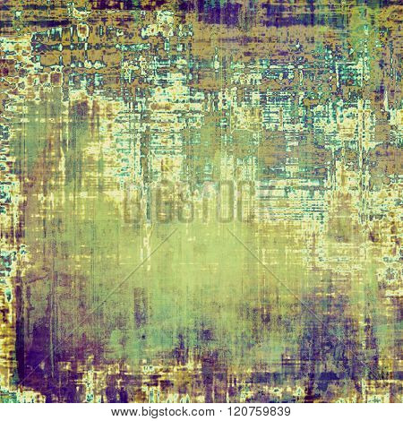 Vintage antique textured background. With different color patterns: yellow (beige); brown; green; blue; purple (violet)