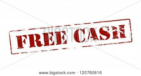 Rubber stamp with text free cash inside vector illustration
