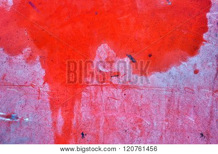 Red Metallic Rusted Surface As A Textured Background