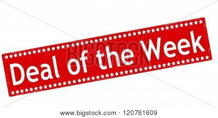 Rubber stamp with text deal of the week inside vector illustration