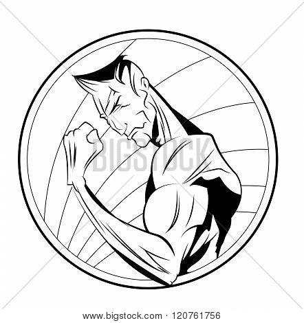 Athlete Fitness Character Emblem