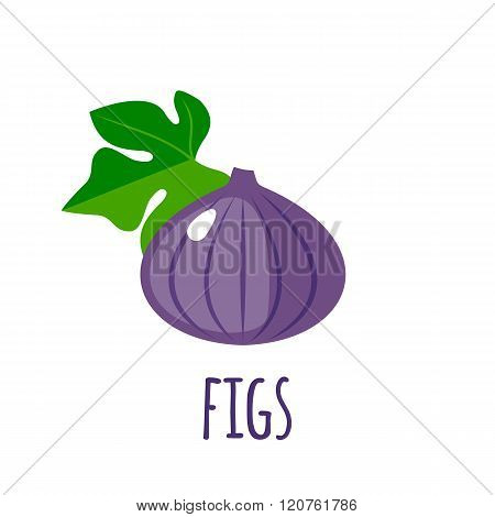 Figs icon in flat style on white background