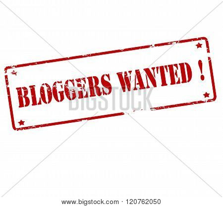 Rubber stamp with text bloggers wanted inside vector illustration