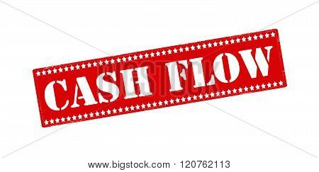 Rubber stamp with text cash flow inside vector illustration